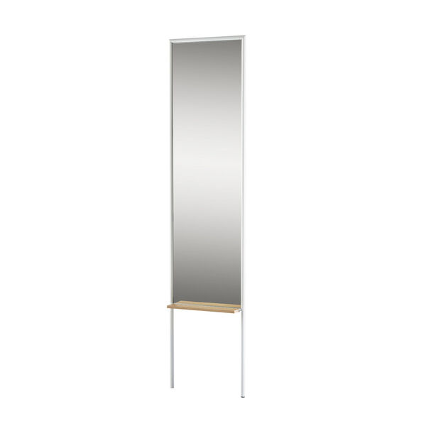 Monty White and Natural Leaning Mirror, image 1