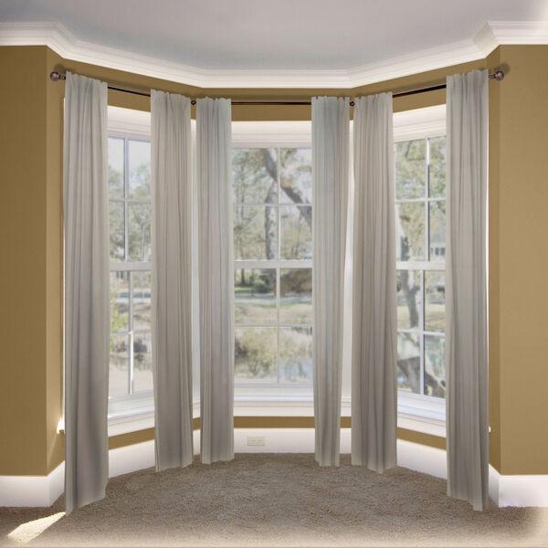Christiano Cocoa Bay Window Curtain Rod, image 2