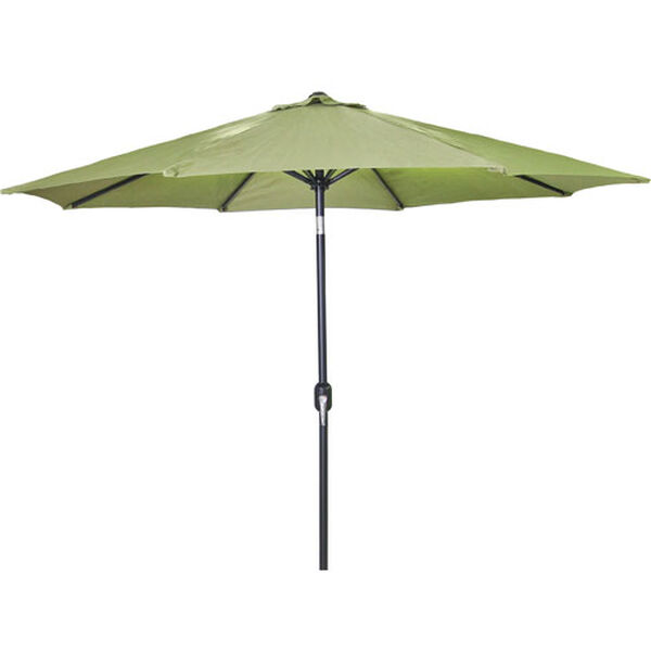 Steel Market Umbrellas Olive 9-Foot Round Steel Umbrella, image 1
