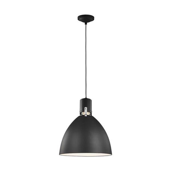 Knole Black 14-Inch LED Dome Pendant, image 3