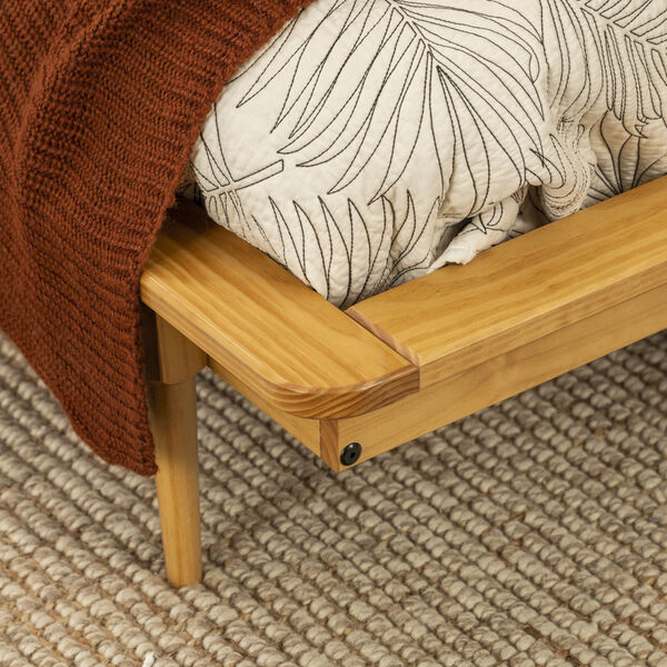 Light Oak Queen Spindle Bed, image 5
