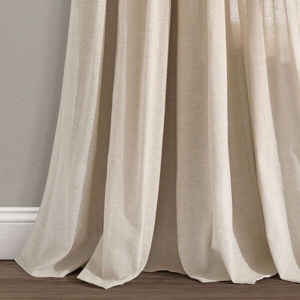 Linen Button Cream 40 x 84 In. Single Window Curtain Panel, image 4
