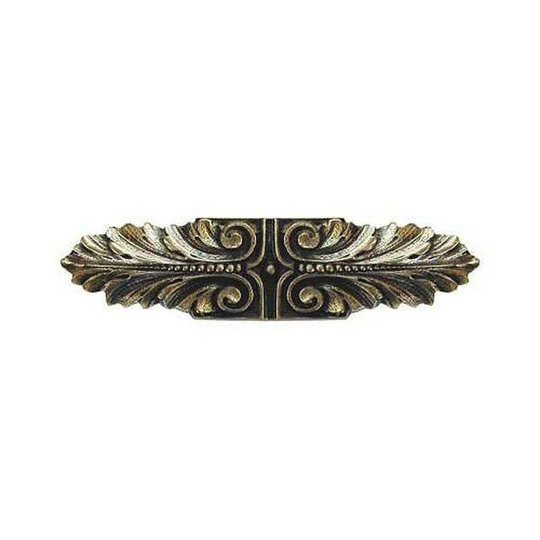 Brite Brass Opulent Scroll Pull, image 1