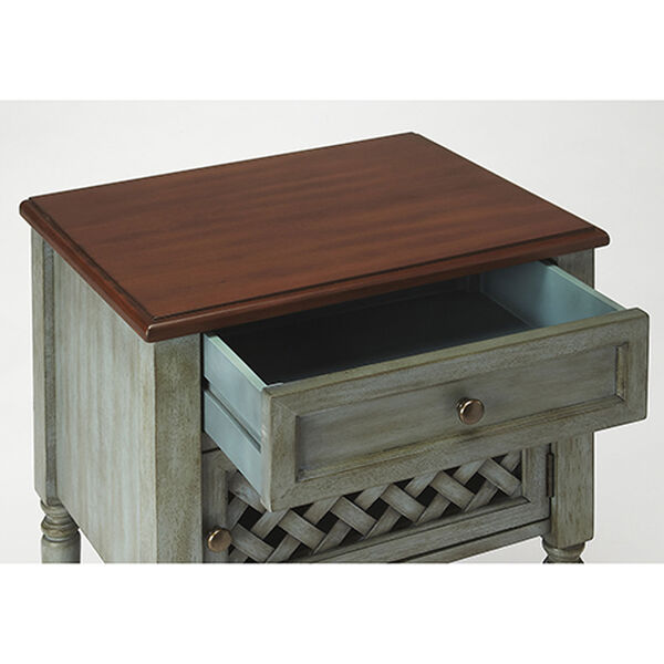 Quinn Rustic Blue End Table, image 2