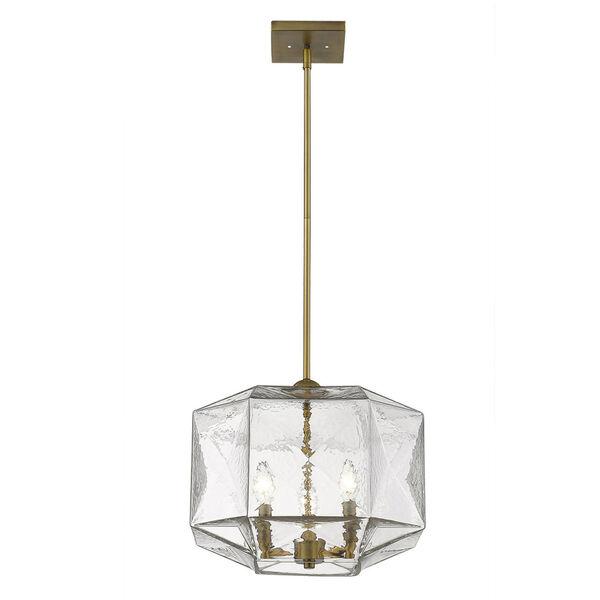 Loft Brass Three-Light Pendant, image 3