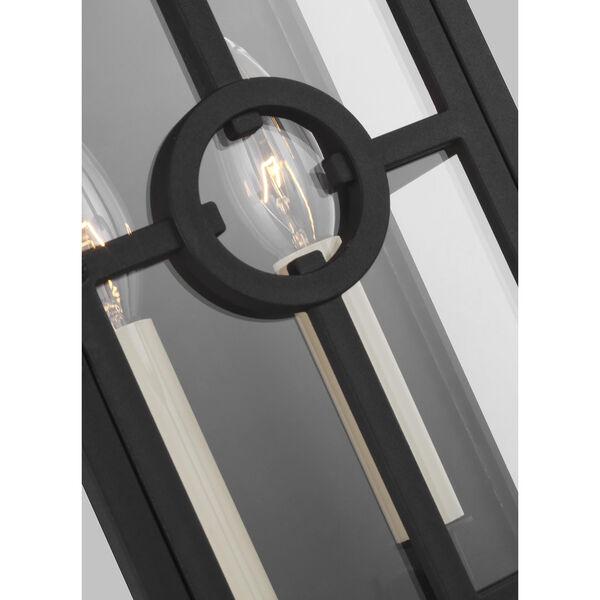 Belleville Textured Black Two-Light Outdoor Wall Lantern, image 2
