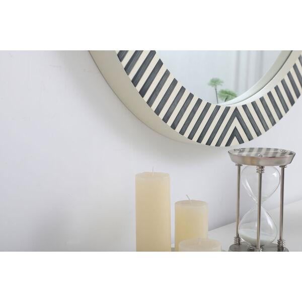 Colette Chevron 32-Inch Round Mirror, image 6