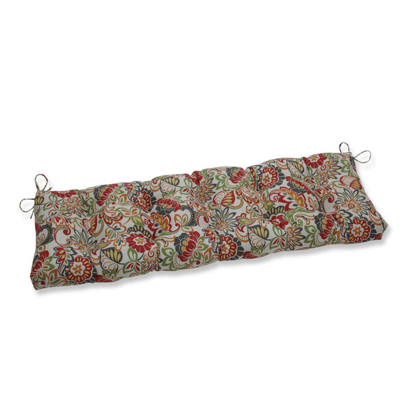 Zoe Green Red 60-Inch Bench Cushion, image 1