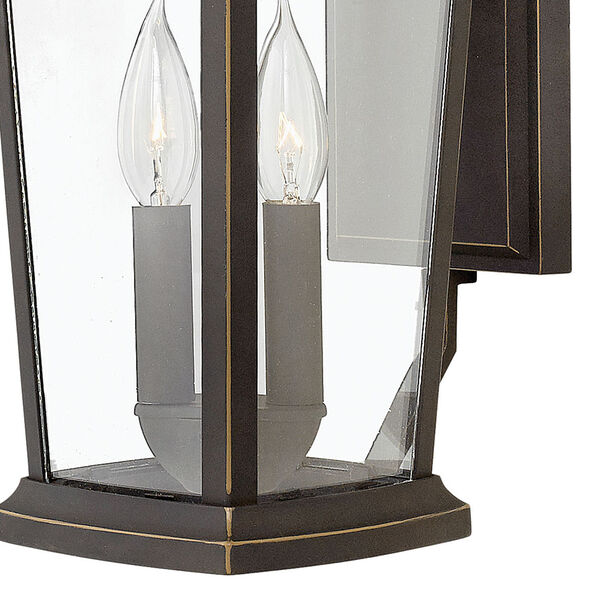 Bromley Oil Rubbed Bronze Two-Light Outdoor 15-Inch Small Wall Mount, image 2