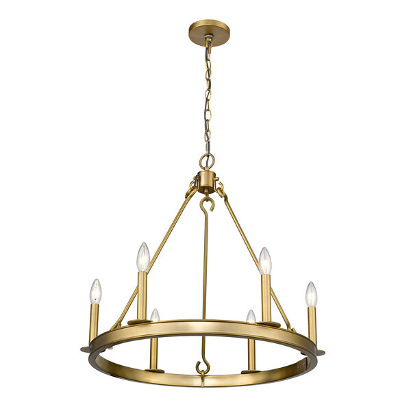 Barclay Olde Brass Six-Light Chandelier, image 5
