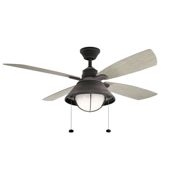 Seaside Weathered Zinc LED Ceiling Fan, image 1