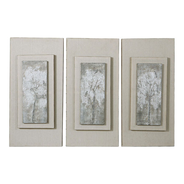 Triptych Trees Hand Painted Art, Set of Three, image 2