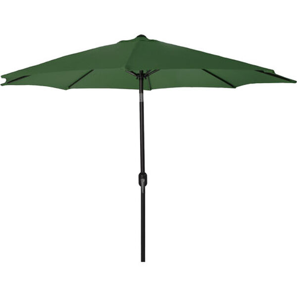 Steel Market Umbrellas Green 9-Foot Round Steel Umbrella, image 1
