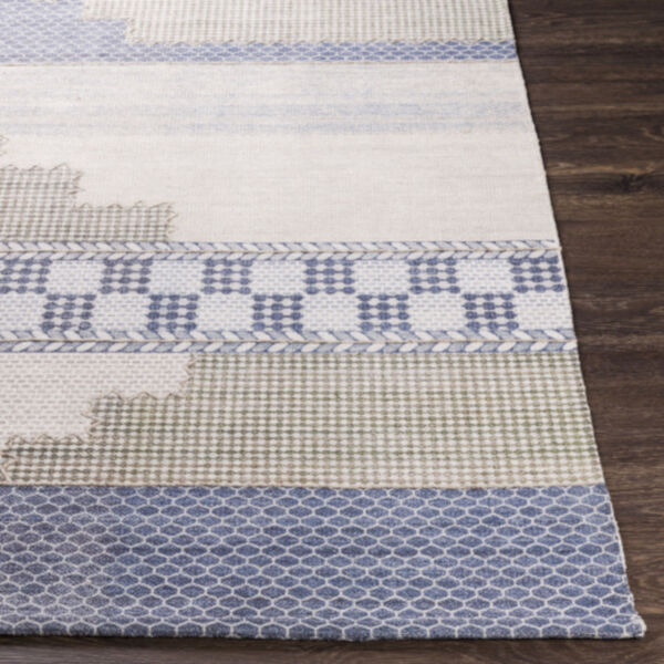 Didim Taupe and Teal Runner Rug, image 3