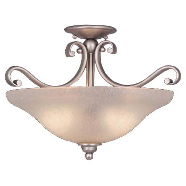 Monrovia Brushed Nickel Convertible Bowl Pendant, image 1