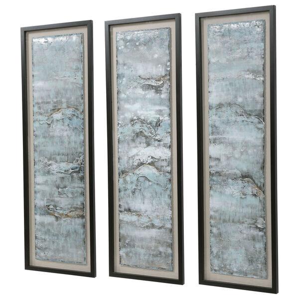 Ocean Swell Beige Painted Metal Art, Set of 3, image 4