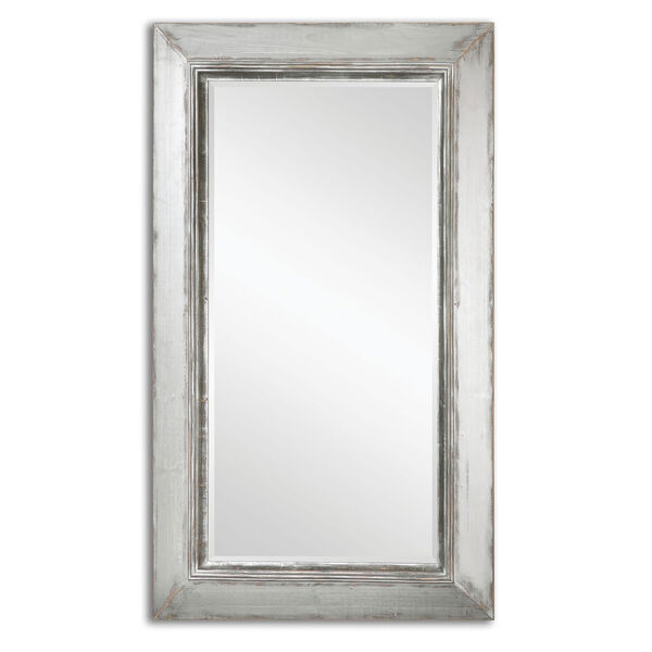 Lucanus Distressed Aged Silver and Natural Wood Mirror, image 2