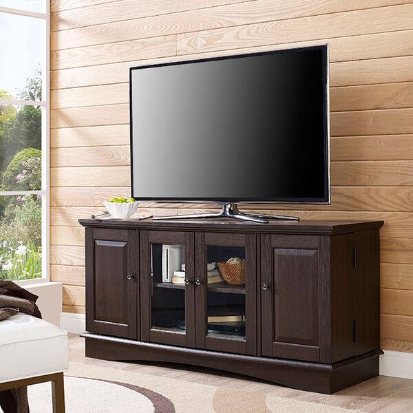 52-inch Espresso Wood Highboy TV Stand, image 1