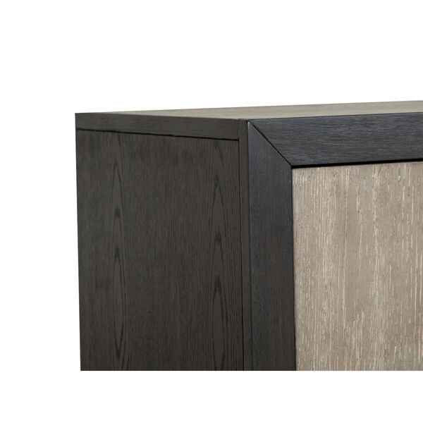 Ryker Nocturn Black and Coventry Gray Nightstand with Drawer, image 6