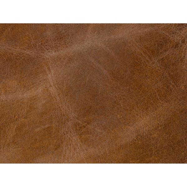Blakeley Brown Leather Ottoman, image 2
