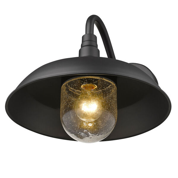Burry Matte Black 14-Inch One-Light Outdoor Wall Sconce, image 6