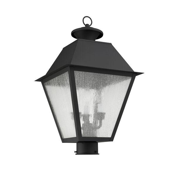 Mansfield Black Three-Light Outdoor Post Head, image 2