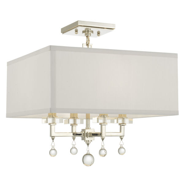 Paxton Polished Nickel Four-Light Ceiling Mount, image 1