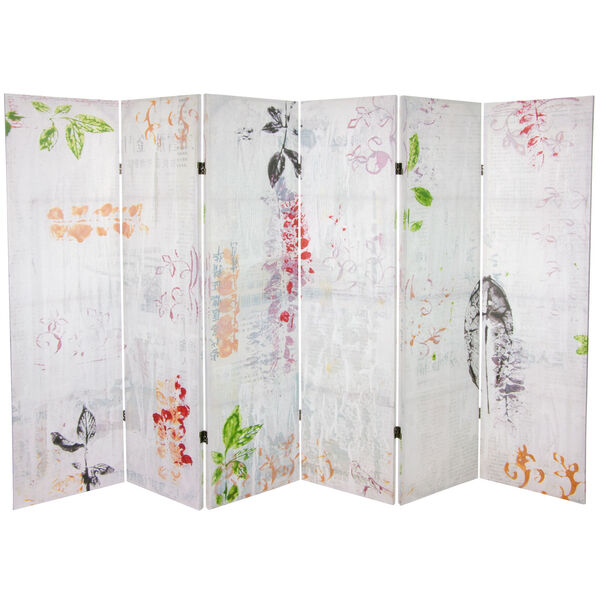 5-Foot Paradise Grove Canvas Room Divider, image 1