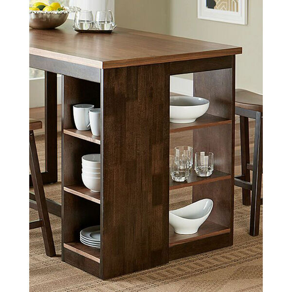 Kenny Walnut and Chocolate Counter Storage Table, image 2