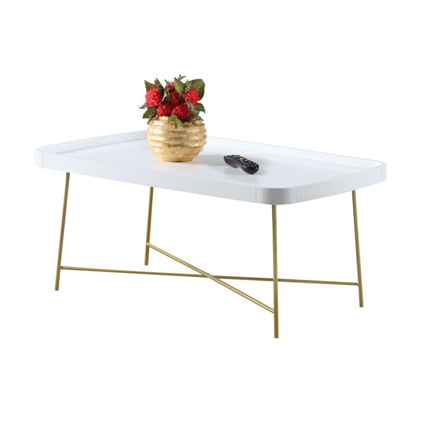 Lunar White and Gold Coffee Table, image 2
