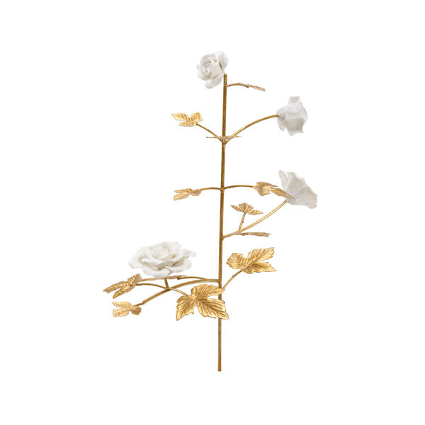 Gold and White Rose Stem, image 1