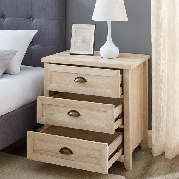 Odette White Oak Three-Drawer Nightstand, image 3