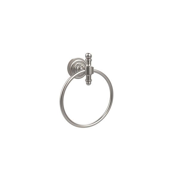 Retro-Dot Satin Nickel Towel Ring, image 1