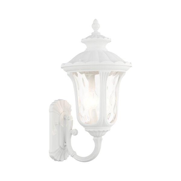 Oxford Textured White Three-Light Outdoor Wall Lantern, image 1