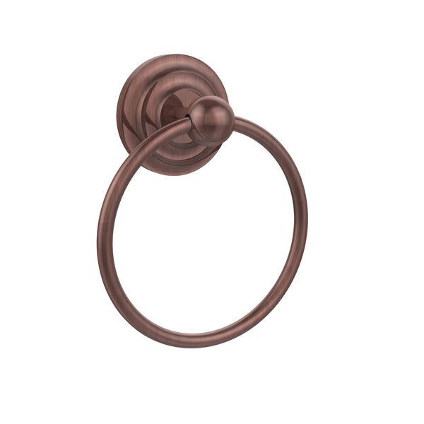 Que New Antique Copper Towel Ring, image 1