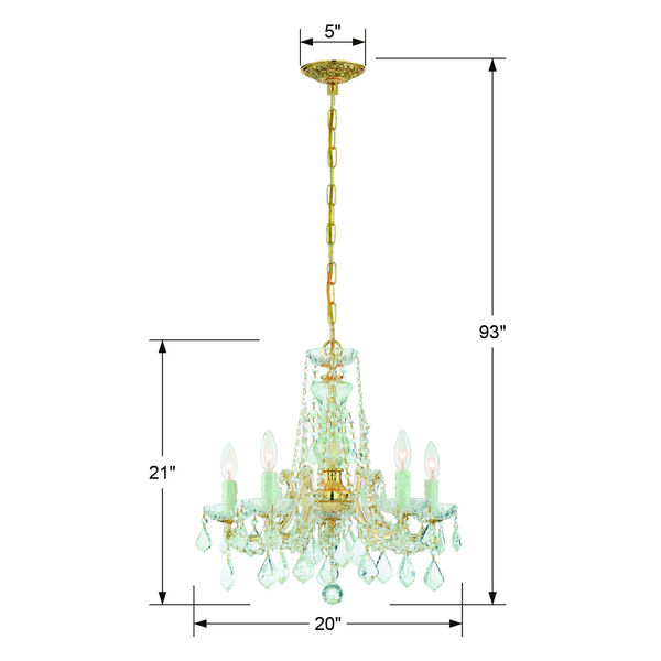 Maria Theresa Tall Five-Light Crystal Chandelier, image 5