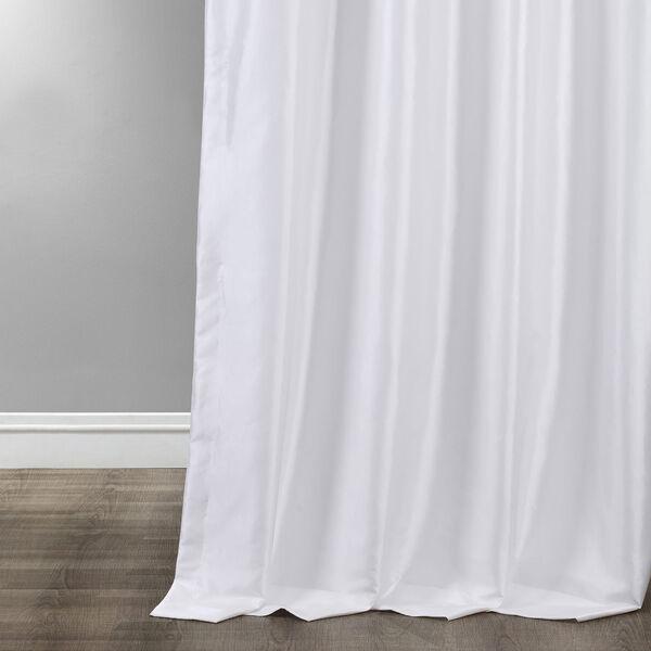 Ruched Eggshell 108 x 50-Inch Faux Silk Taffeta Curtain Single Panel, image 4