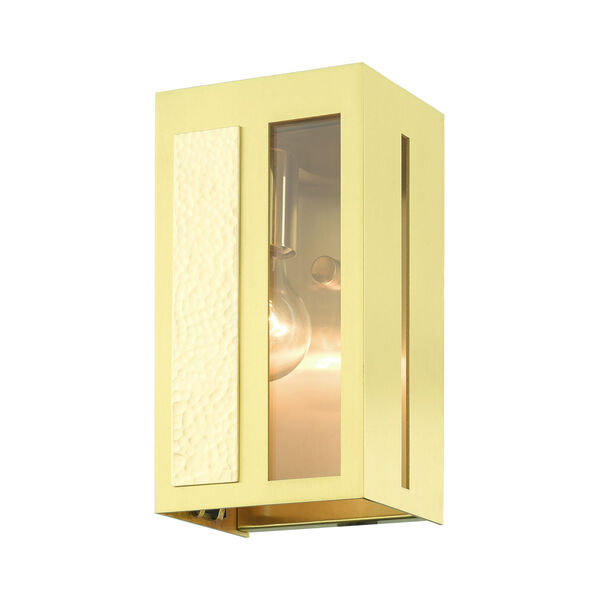 Lafayette Satin Brass Five-Inch One-Light Outdoor ADA Wall Sconce, image 4
