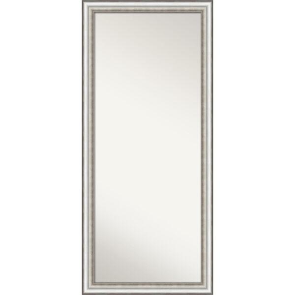 Salon Silver 29W X 65H-Inch Full Length Floor Leaner Mirror, image 1