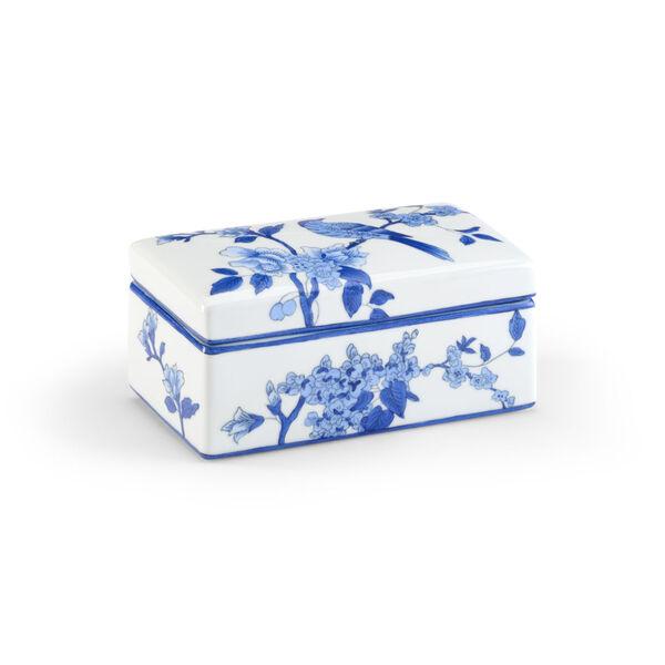 Blue and White Nine-Inch Bird Decorative Box, image 1