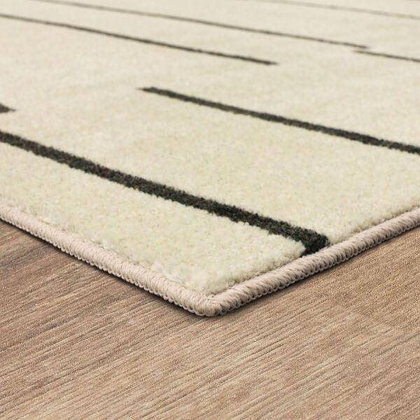 Kenza Ivory Linen Striped Rectangular: 2 Ft. x 3 Ft. Area Rug, image 4