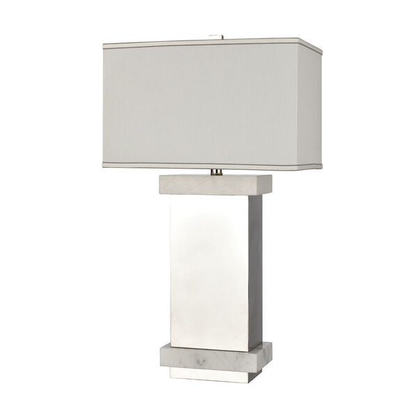 Keystone Silver and White One-Light Table Lamp, image 2