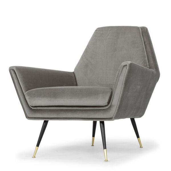 Vanessa Smoke Gray and Black Occasional Chair, image 6