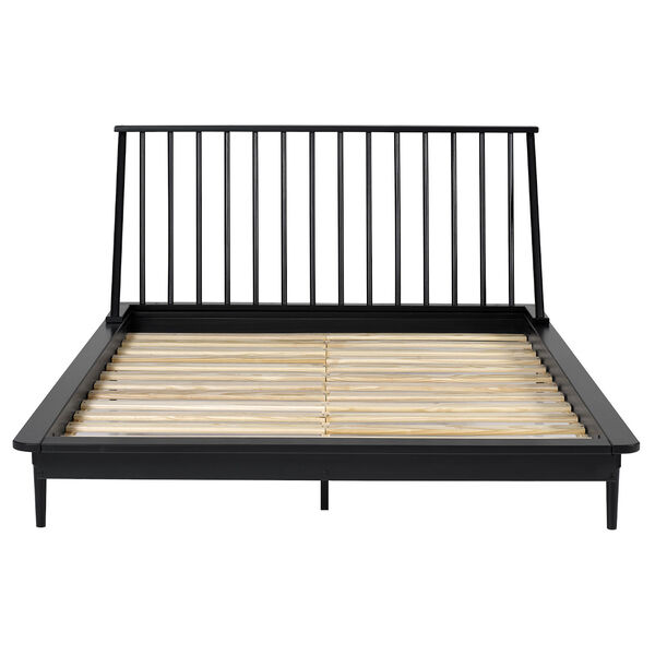 Black Wood Queen Spindle Bed, image 4