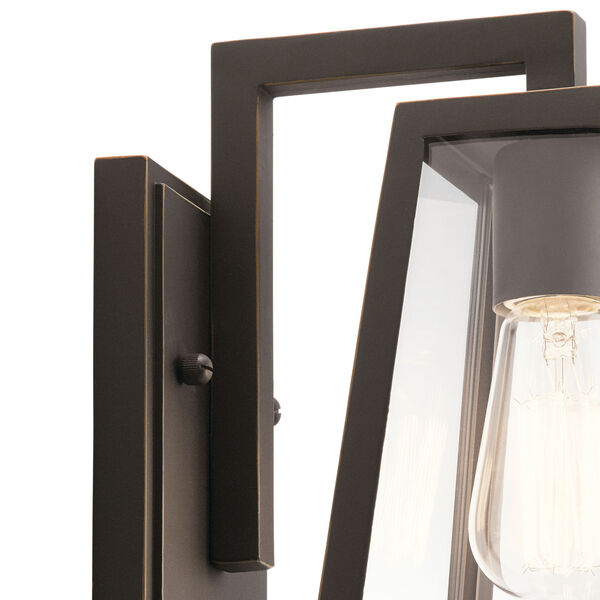 Delison Rubbed Bronze Seven-Inch One-Light Outdoor Wall Sconce, image 2