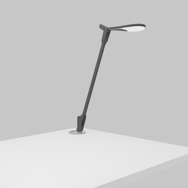 Splitty Matte Grey LED Desk Lamp with Grommet Mount, image 2