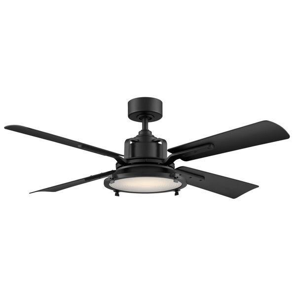 Nautilus Matte Black 56-Inch ADA LED Ceiling Fan, image 1