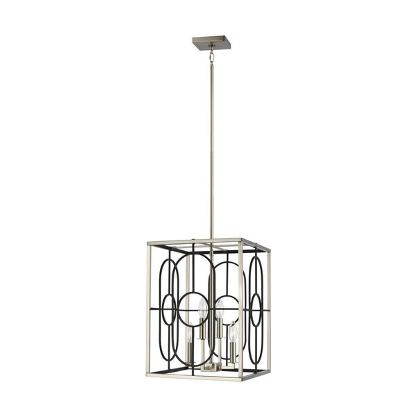 Rennie Brushed Nickel 13-Inch Four-Light Pendant Energy Star, image 1