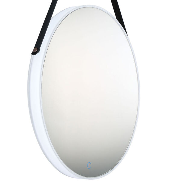 Silver One-Light LED Mirror, image 3