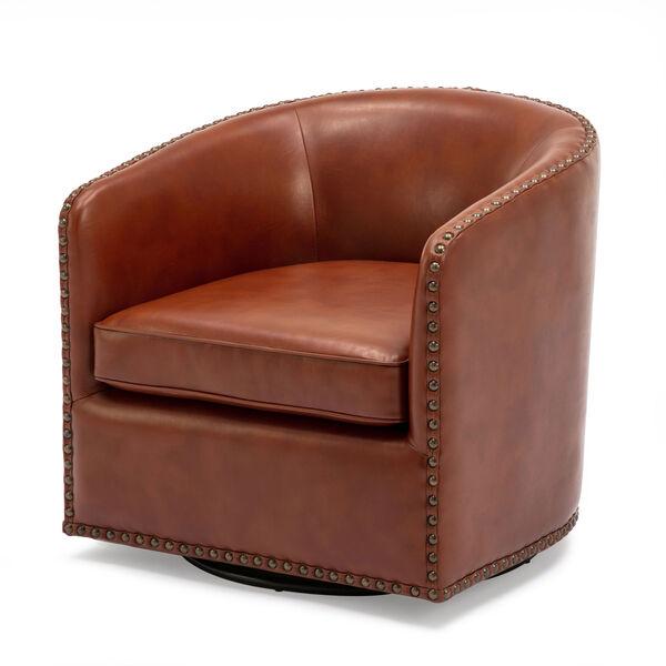 Tyler Caramel Swivel Arm Chair, image 1